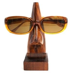 Guess Brown/Yellow Translucent Oval Sunglasses